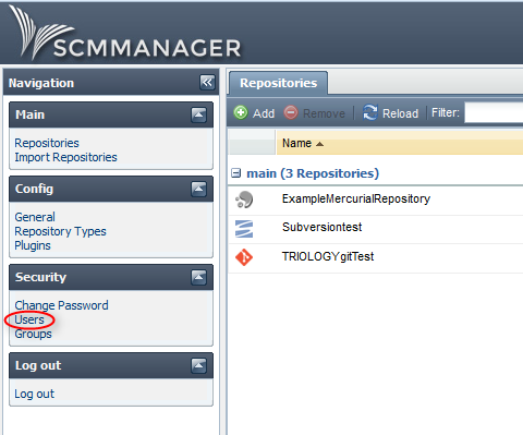 Users in SCM-Manager