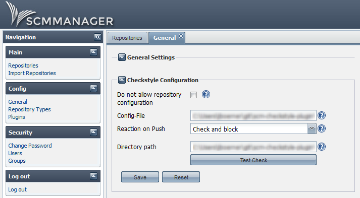 General Checkstyle configuration in SCM-Manager