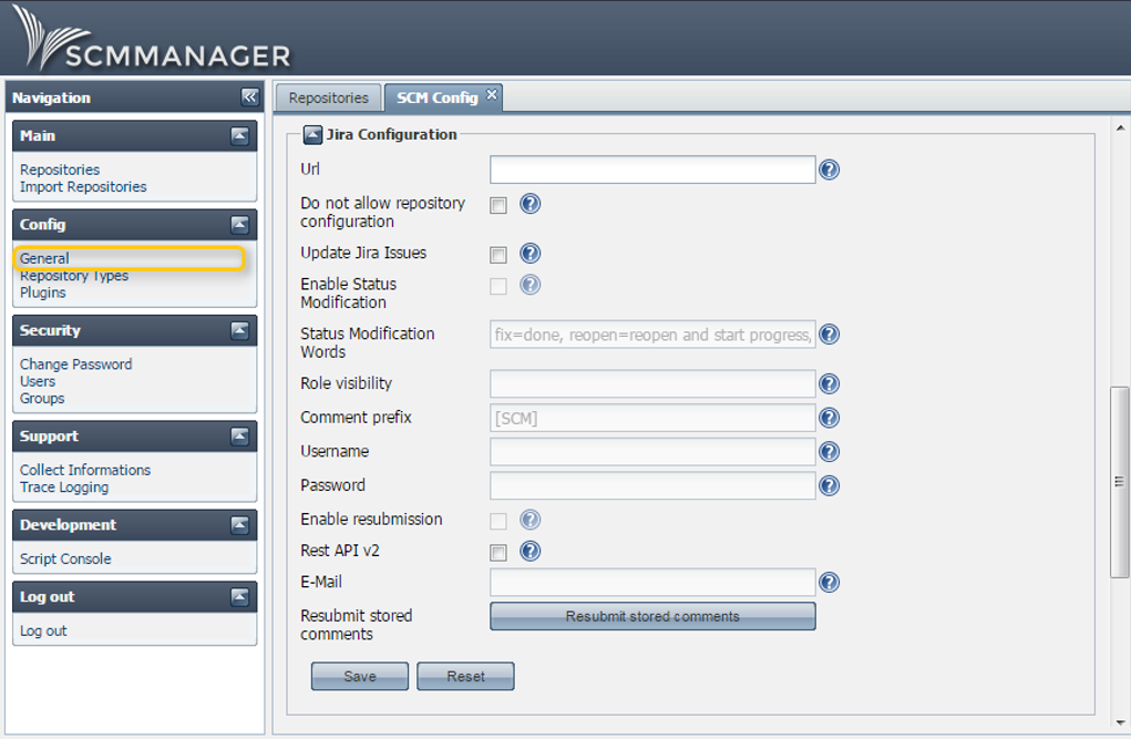 JIRA Configuration in SCM-Manager
